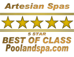 Best of Class Artesian Spas Award